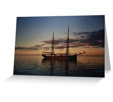The Failie, training sailing ship, South Australia Greeting Card