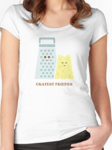 Cheesy Friendship Women's Fitted Scoop T-Shirt