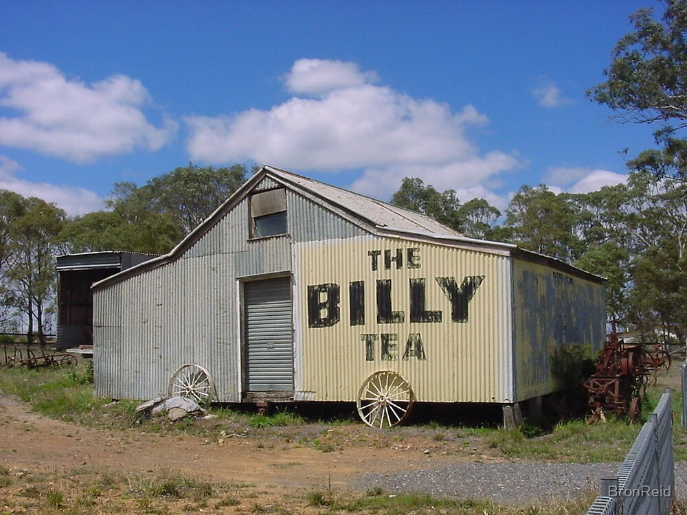Billy Tea advertising on old shed by BronReid