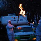 Olympic Torch Relay - Devon, Alberta by Roxanne Persson