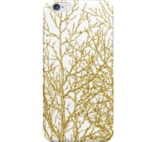 Modern chic gold glitter effect trees pattern iPhone Case/Skin