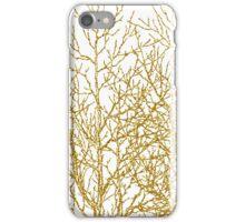 Modern chic gold glitter effect trees pattern iPhone Case/Skin