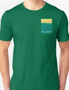 Peak District - Rolling Hills Graphic Art Print Unisex T-Shirt