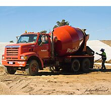 Concrete Truck Photographic Print
