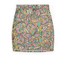 Modern boho botanical floral paisley pattern  Mini Skirt