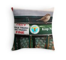 One Man's Trash... Throw Pillow