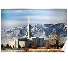Mount Timpanogos Temple - Winter Morning Poster