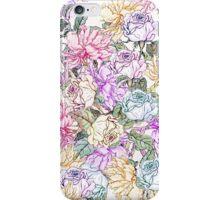 Vintage colorful pink purple orange floral pattern iPhone Case/Skin