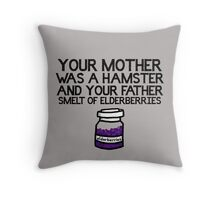Your Mother Was a Hamster Throw Pillow