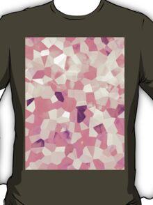 Mod Geometric Abstract Pattern Pink Retro Pastel T-Shirt