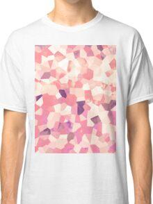 Mod Geometric Abstract Pattern Pink Retro Pastel Classic T-Shirt