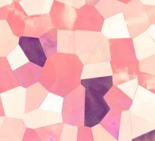 Mod Geometric Abstract Pattern Pink Retro Pastel Sticker