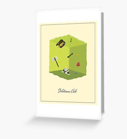 Gelatinous Cube Greeting Card