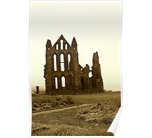 Whitby Abbey Aged Poster