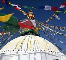 Boudhnat stupa #3 by Peter Voerman