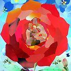 The Family in the Flower (collage) by Ian Charles Douglas