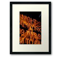 The Nightly Detour Brightly © Vicki Ferrari Photography Framed Print