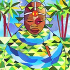 African Bride (collage) by Ian Charles Douglas