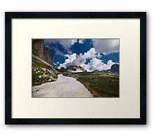 Lavaredo Three Peaks Framed Print