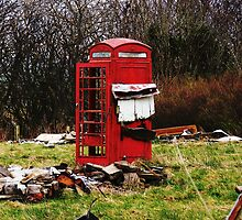 The Red Telephone Box in the Woods by ElviraTSquirrel