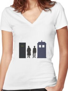 A Study In Time Women's Fitted V-Neck T-Shirt