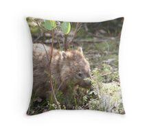 A mountain resident Throw Pillow