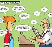 Celebrity Clerk: zazzle.com by Mike Spicer