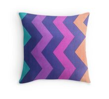 Chevron Rainbow Mania Throw Pillow