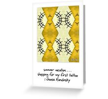 Kandinsky greeting card Greeting Card