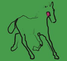 cool t-shirt - horse - Filly Baby Tee