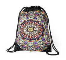Textural Kaleidoscope of Colors Drawstring Bag