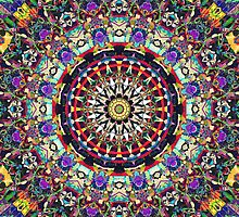 Textural Kaleidoscope of Colors by Phil Perkins