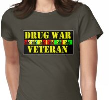 DRUG WAR VETERAN Womens Fitted T-Shirt