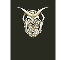 Horned Skull (color) Photographic Print