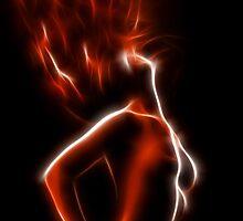 Fiery woman by Mikhail Palinchak