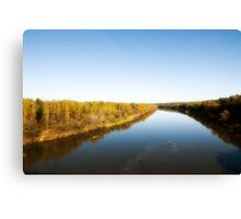 Autumn river landscape Canvas Print