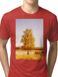 Single birch tree Tri-blend T-Shirt