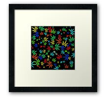 Juicy Marijuana Leaves Framed Print