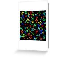 Juicy Marijuana Leaves Greeting Card