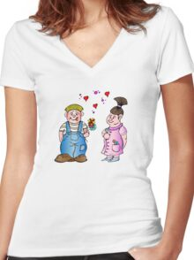 Big Love Women's Fitted V-Neck T-Shirt