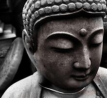 black and white buddha by Arch13