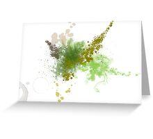 A Green Spill Greeting Card