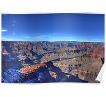 Cold winters day at the Grand Canyon Poster