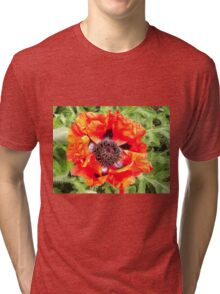 Orange Flower Tri-blend T-Shirt