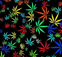 Juicy Marijuana Leaves by NataliSven