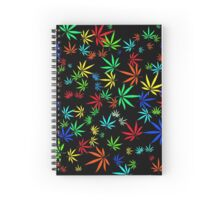 Juicy Marijuana Leaves Spiral Notebook