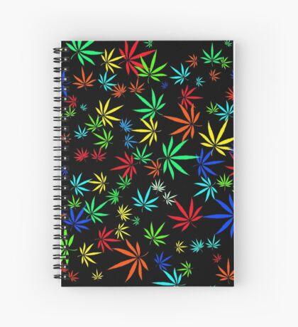 Juicy Marijuana Leaves Spiral Notebook