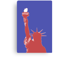 Statue of Liberty Outline (Pop Art style) Canvas Print