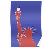 Statue of Liberty Outline (Pop Art style) Poster