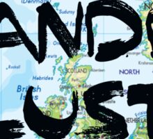 Wanderlust! Rounded Europe Map Sticker